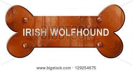Irish wolfhound, 3D rendering, rough brown dog bone