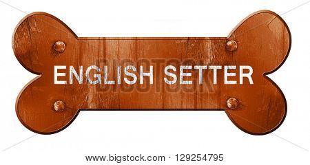 English setter, 3D rendering, rough brown dog bone