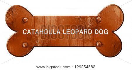 Catahoula leopard dog, 3D rendering, rough brown dog bone