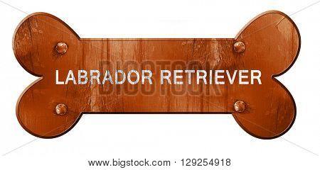 Labrador retriever, 3D rendering, rough brown dog bone