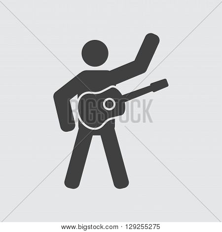 Guitarist icon illustration isolated vector sign symbol