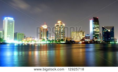 Modern Dubai Creek Skyline