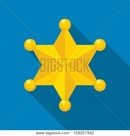 Sheriff star icon illustration isolated vector sign symbol