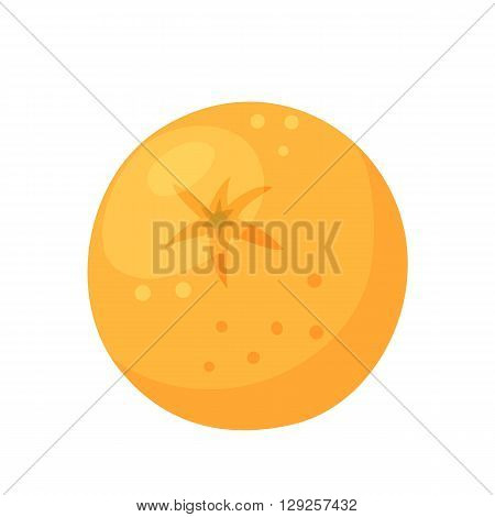 Orange icon. Orange vector illustration. Cartoon orange logo. Fresh healthy snack. Vegetarian food.