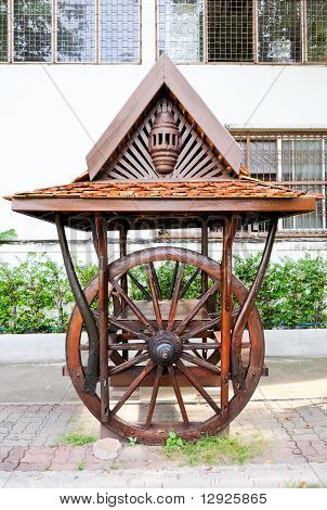 Traditional Thai Wooden Pavilion