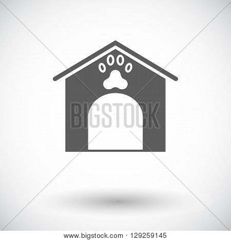 Kennel icon. Flat vector related icon for web and mobile applications. It can be used as - logo, pictogram, icon, infographic element. Vector Illustration.