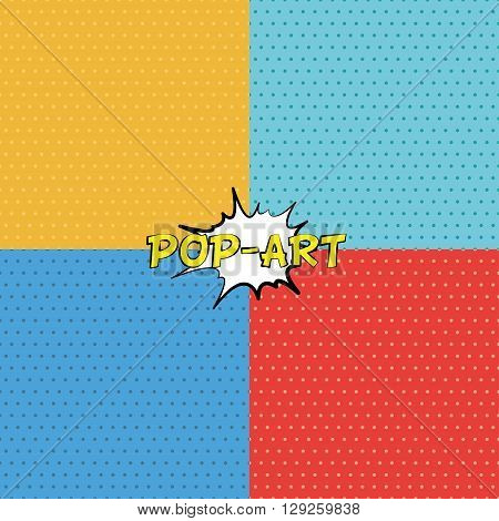 Seamless texture in pop-art style. Wallpaper for comics. Vector illustration