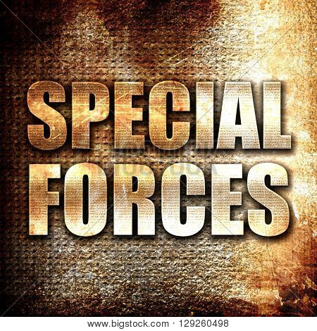 special forces, rust writing on a grunge background