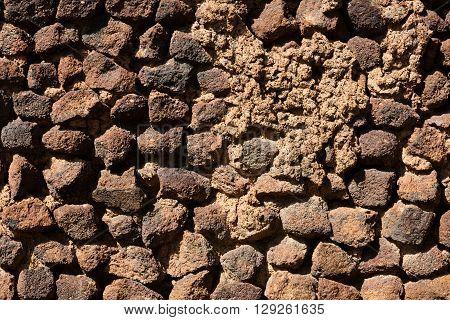 Wall Of Brick, Tuff And Stone.