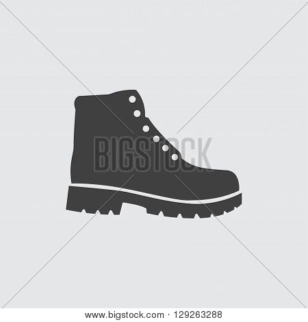 Hiking boots icon illustration isolated vector sign symbol