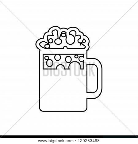 an images of Beer Jar Icon Illustration design