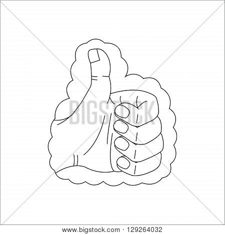 Like web vector line icon isolated on white bacground