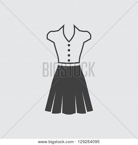Blouse and skirt icon illustration isolated vector sign symbol