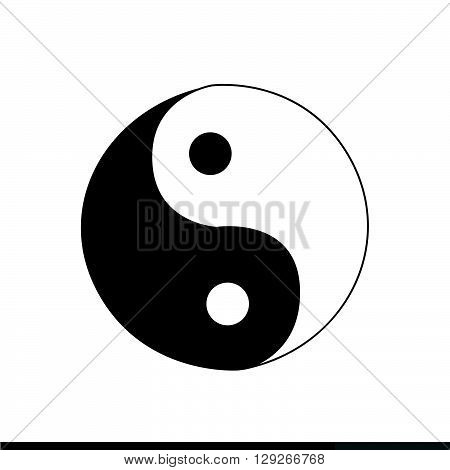an images of Ying yang icon Illustration design