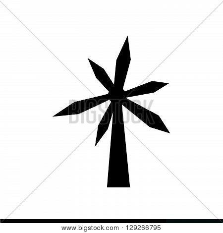 an images of wind turbine icon Illustration design