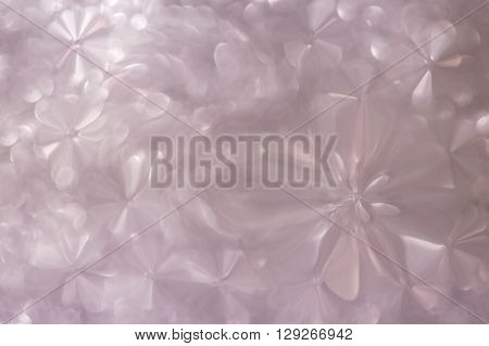 White Pastel And Pearl Abstract Flowers Shape Sweet Romantic Background