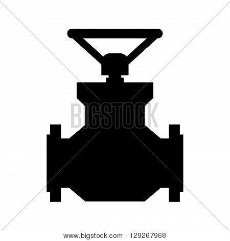Globe valve ( shade picture ) on white background