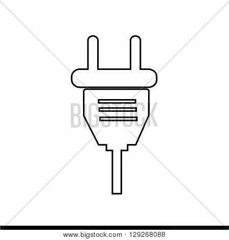 an images of Electric plug icon Illustration design