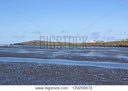 River flowing through Poppit Sands in Wales