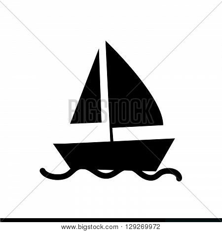 an images of Sail boat icon illustration design