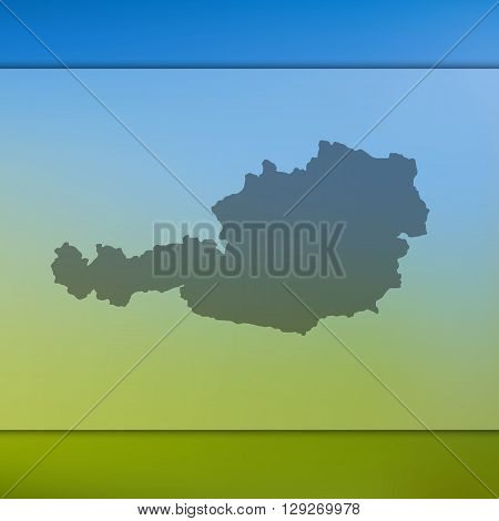Austria map on blurred background. Austria vector map. Blurred background with silhouette of Austria.