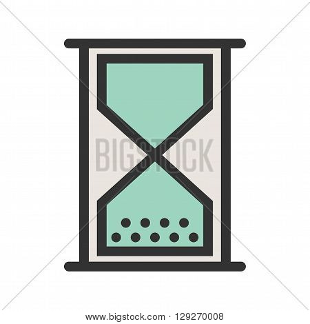 Glass, hourglass, time  icon vector image. Can also be used for marketing. Suitable for use on web apps, mobile apps and print media.