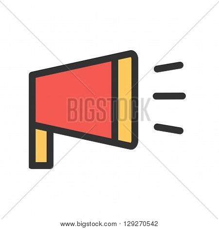 Megaphone, announcement, speaker icon vector image. Can also be used for marketing. Suitable for use on web apps, mobile apps and print media.