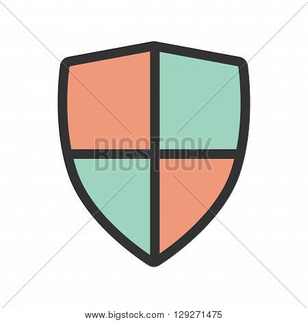 Shield, parameters, sign icon vector image.Can also be used for security. Suitable for web apps, mobile apps and print media.