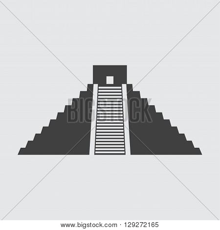 Chichen Itza icon illustration isolated vector sign symbol