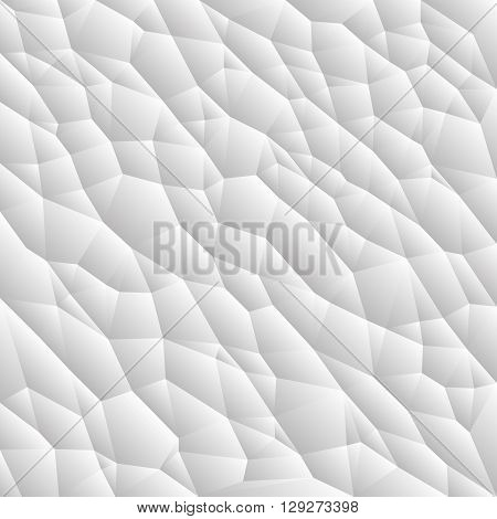 Abstract vector triangle background, textured cell concept, grey and white geometric surface