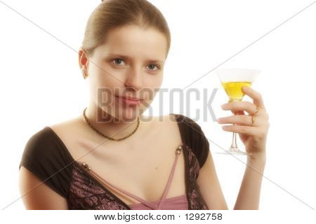 Woman With A Martini Glass