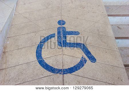 Ramps for disabled using wheelchair, image wheelchair