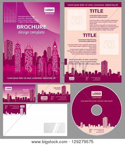 Business brochure architecture design vector template. Architecture business brochure, cover architecture city, business branding architecture poster illustration