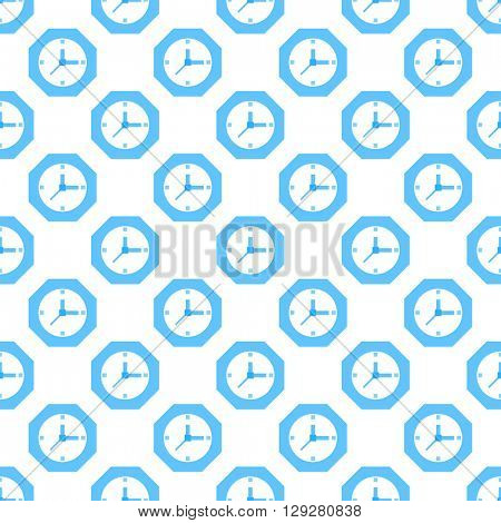 Blue clock  pattern seamless. Time, watch, schedule, business, management, plan, work and urgency concept. Editable can be used for web page backgrounds