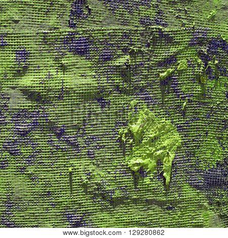 Green painted net surface texture closeup background.
