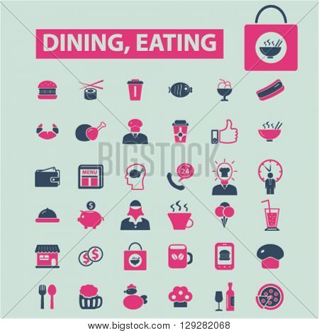 dining eating icons