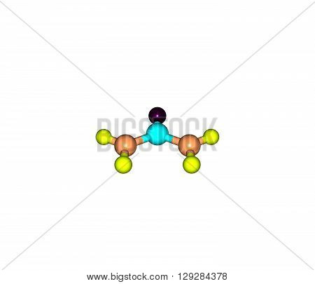 Urea - carbamide -is an organic compound with the chemical formula CONH22. 3d illustration