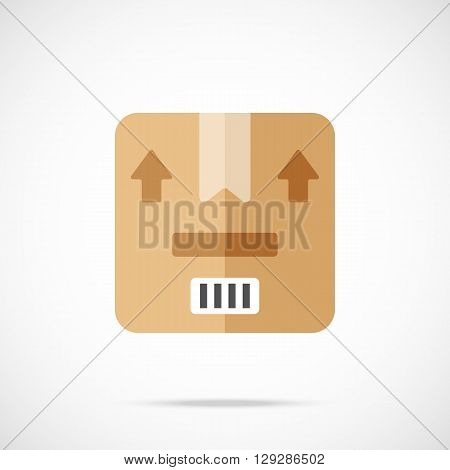 Vector package, parcel icon. Modern flat design vector illustration concept for web banners, web and mobile app, web sites, printed materials, infographics. Vector icon isolated on gradient background