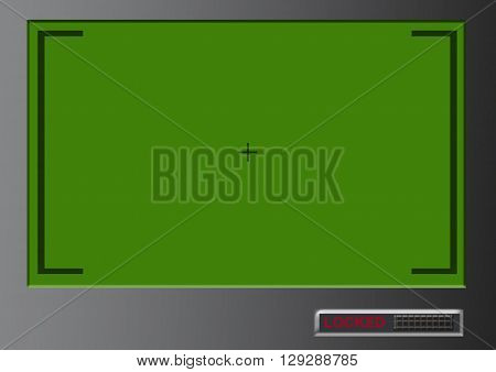 Blank Green Screen Background With Menu Target Locked In Millennium Platinum Colour Tone
