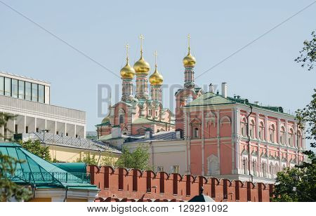 Moscow, Russia - August 11, 2015: View Of The Church Of Praise Of The Blessed Virgin In The Moscow K