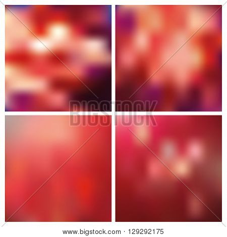 Abstract blurred effect backgrounds.Vector Effect smooth blurred light and energy space.Hot red colors.For valentine, wedding day, holidays.For website, print, presentation.Watercolor blur.Dawn, sunset