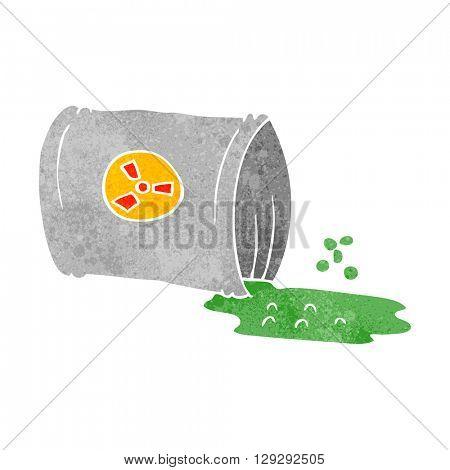 freehand retro cartoon nuclear waste