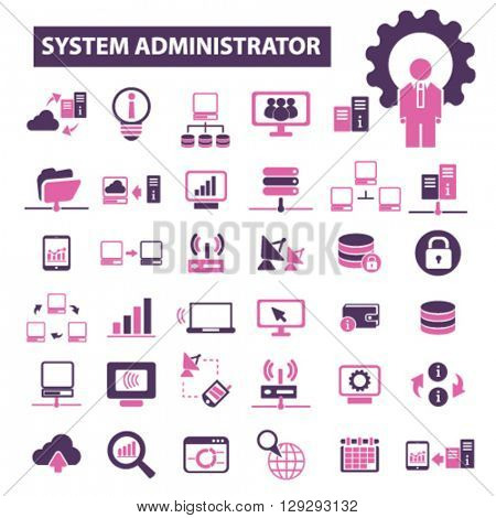 system administrator icons