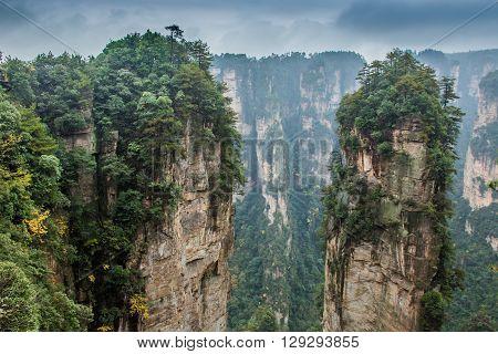 Breathtaking landscape summer day in Zhangjiajie, China