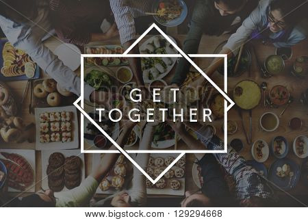 Get Together Friendship integration Support Concept