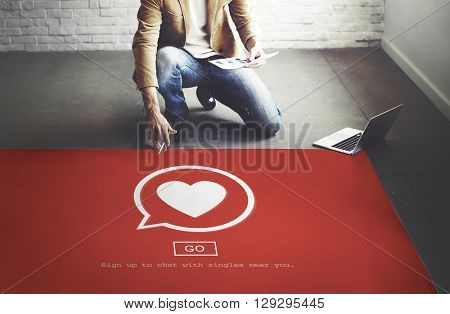 Dating Flirting Chatting Talking Passion Concept