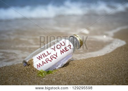 Marriage Proposal In A Bottle