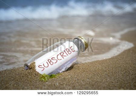 Subscrube Invitation In A Bottle