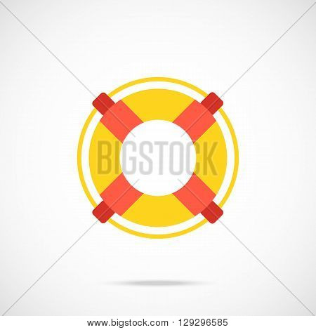 Vector lifebuoy icon. Life preserver icon pictogram. Modern flat design vector illustration for web banners, web and mobile applications, infographics. Vector icon isolated on gradient background