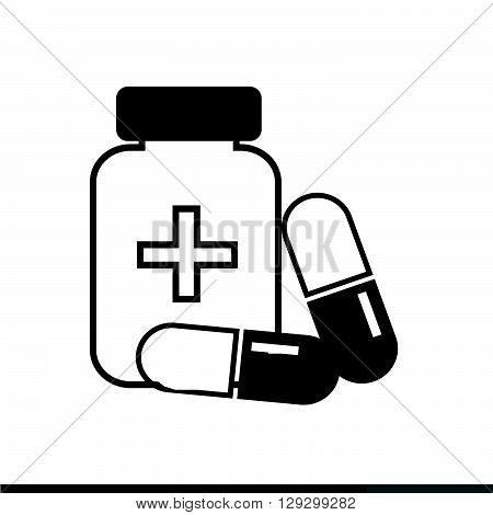 an images of Medicine Icon pill icon illustration design